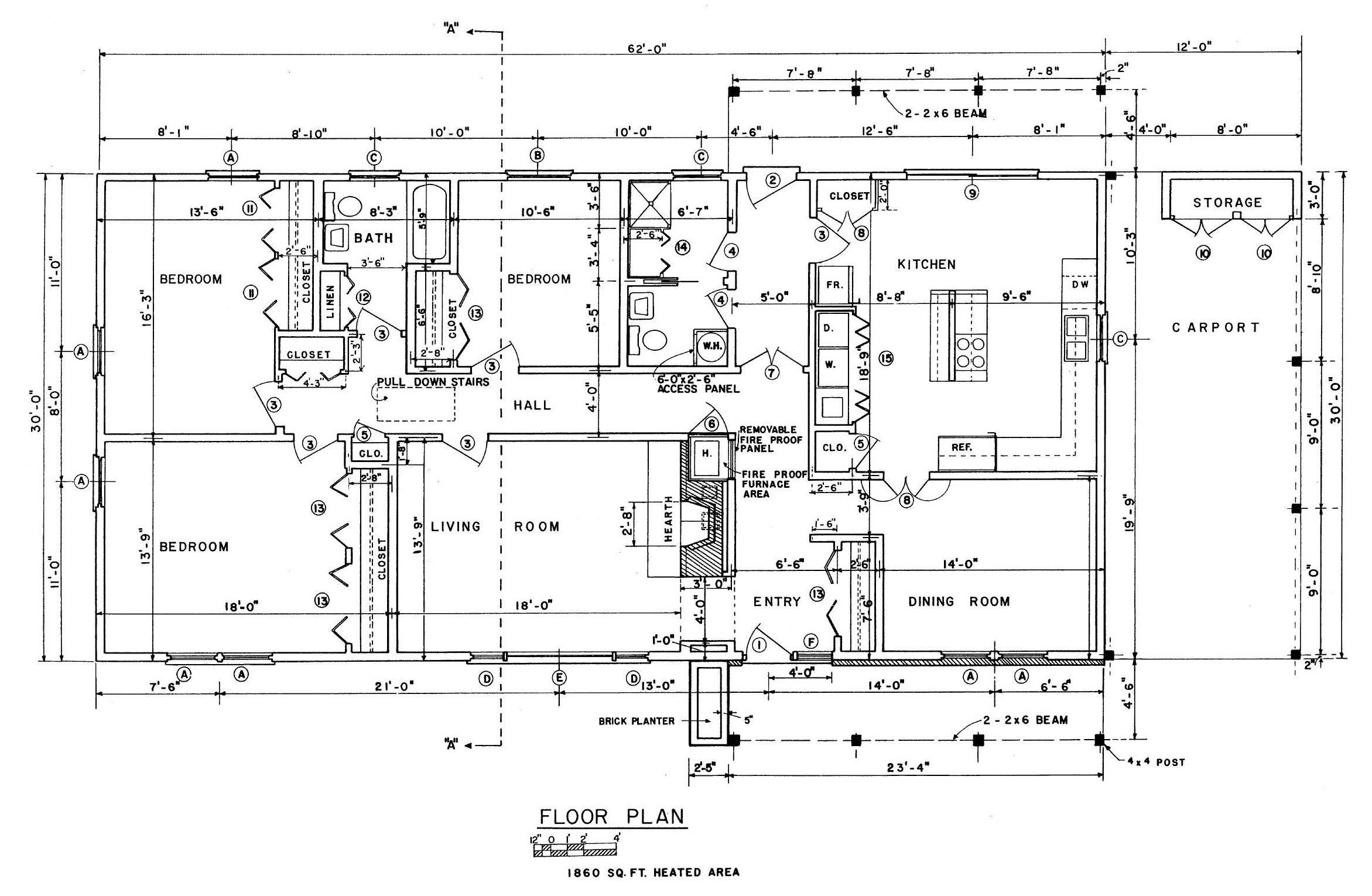 Source More Bedroom Ranch House Plans Carport