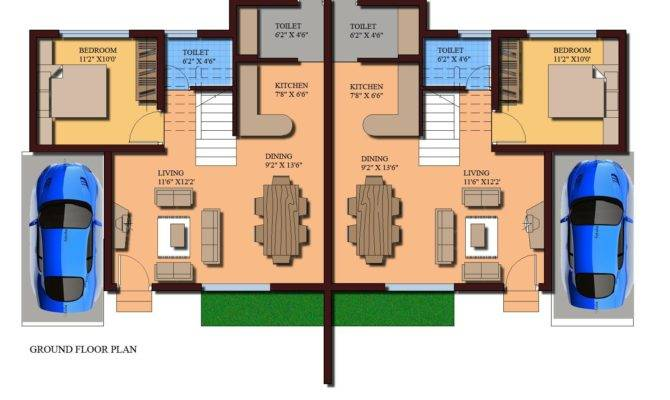 Source More Modern Twin House Plans Sqft Bedroom Home Design