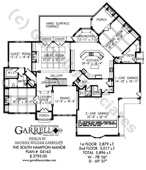 south hton manor house plan plans garrell home