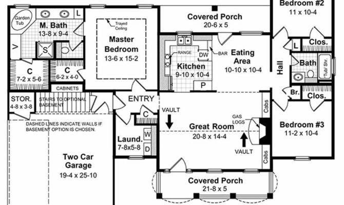 Southern Beds Baths Plan Main Floor