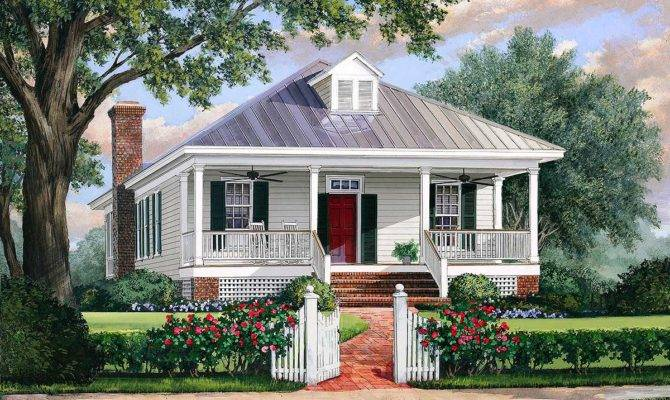 Southern Cottage House Plan Metal Roof