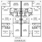 Southern Heritage Home Designs Duplex Plan