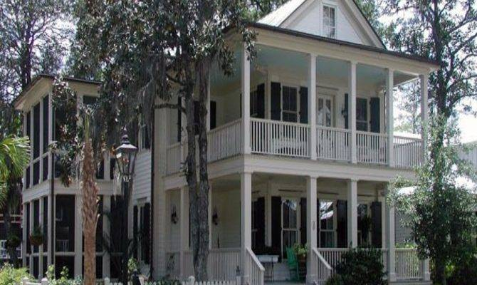 Southern House Plan Double Porches