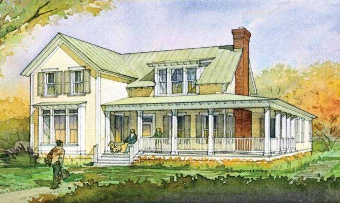 Southern Living House Plans Farmhouse One Story