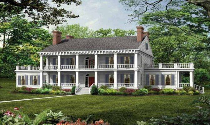 Southern Plantation Style House Plans Old