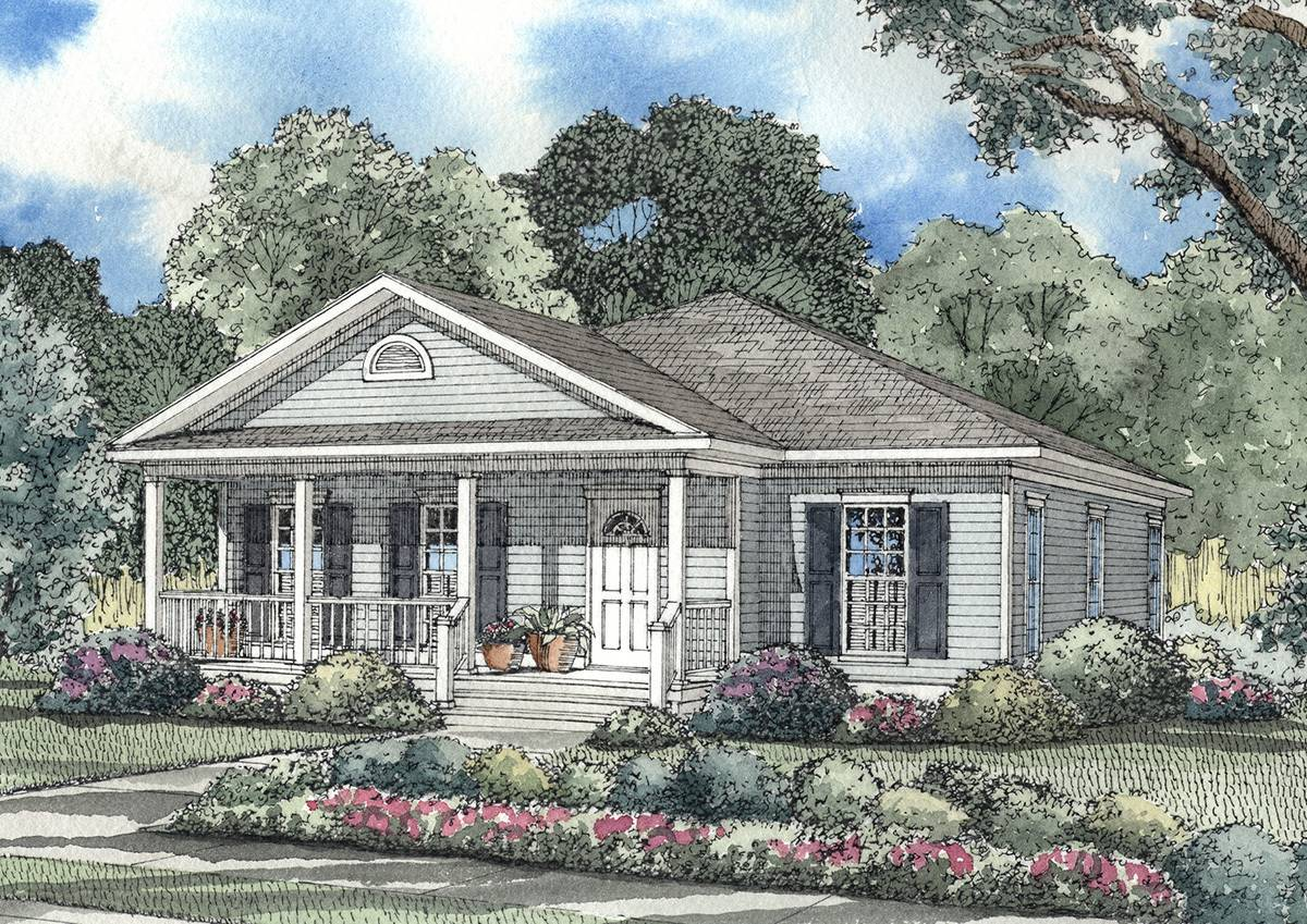 Southern Traditional Home Plan Architectural