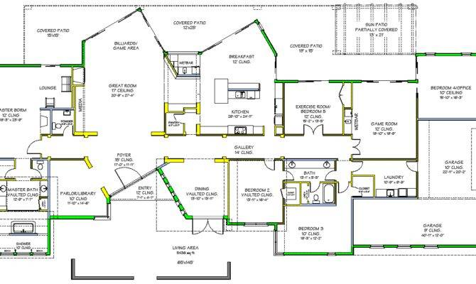 Southwest Contemporary Luxury House Plan