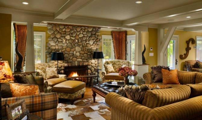 Southwestern Lodge Style Living Room