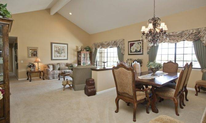 Spacious Cathedral Ceiling Formal Living Room Dining