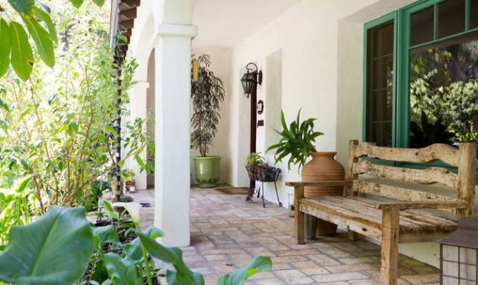 Spanish Bohemian South Pasadena Mediterranean Porch