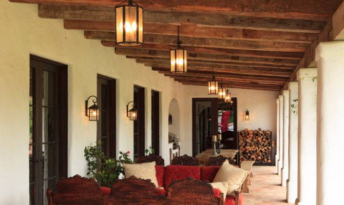 Spanish Colonial Ranch Mediterranean Porch Orange