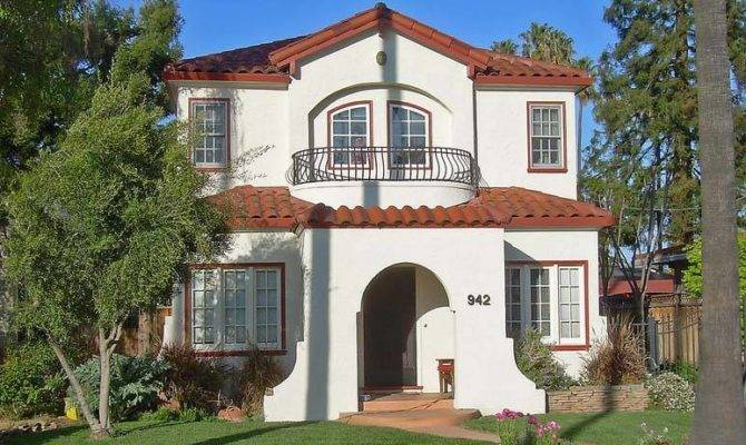 Spanish Eclectic Tudor Revival Style Houses