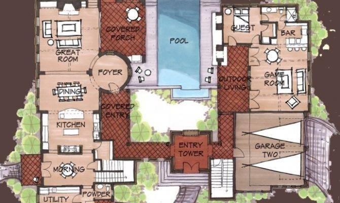 Spanish Hacienda Floor Plans Unique House
