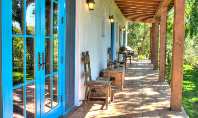 Spanish Hacienda Homestead Southwestern Porch Santa