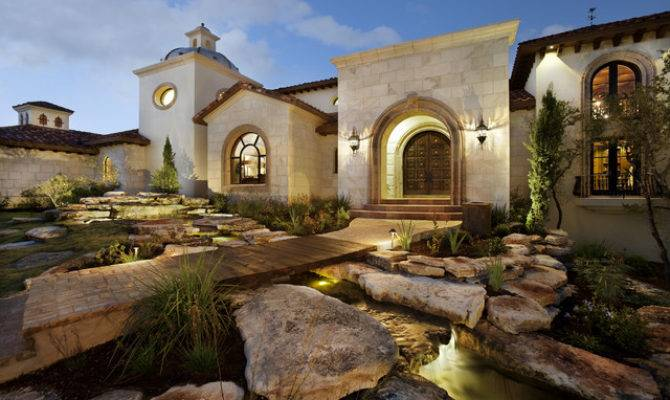 Spanish Oaks Hacienda Mediterranean Exterior Austin