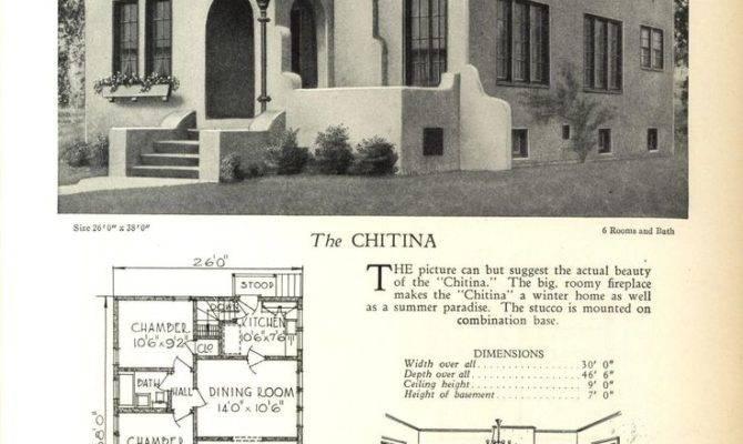 Spanish Revival Bungalow House Plans