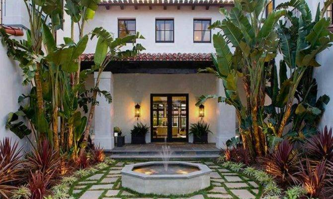 Spanish Style Homes Courtyards Ideas Home Design