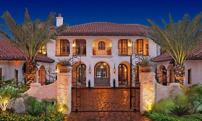 Spanish Style House Exterior Design Front Yard Landscaping Ideas
