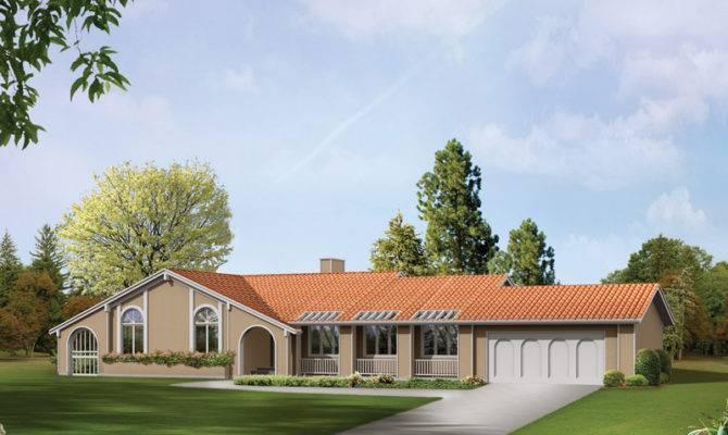 Spanish Style Ranch House Ideas Design Office