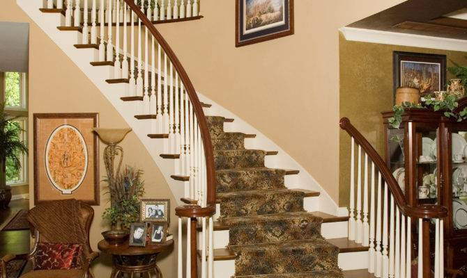 Spiral Staircase Built Prange Homes Bloomington