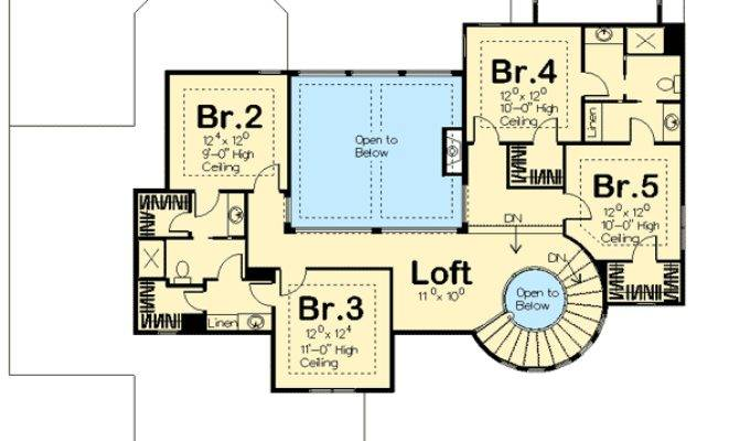 Spiral Staircase House Plans Homes Floor