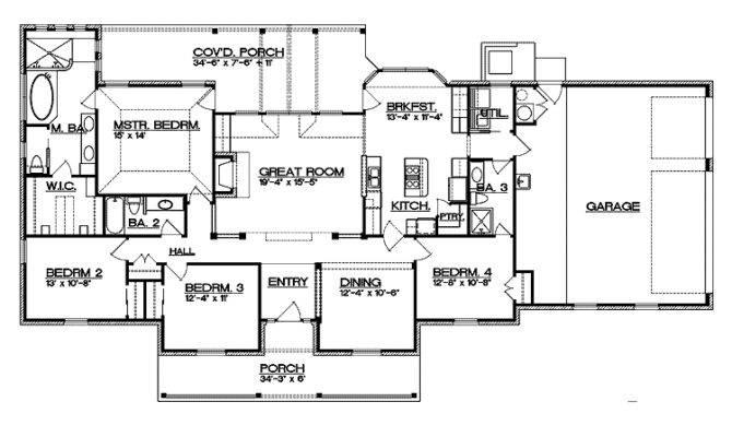 Split Bedroom Floor Plan House Plans
