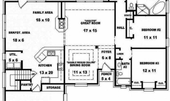 Split Bedroom Floor Plans