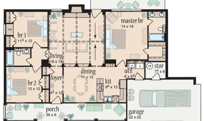 Split Bedroom Ranch Design Architectural