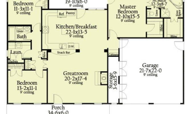 Split Bedroom Ranch Home Floor Master Suite