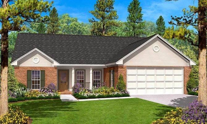 Split Bedroom Ranch Home Plan Architectural