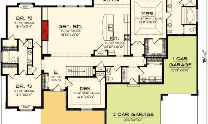 Split Bedroom Ranch Home Plan Floor Master