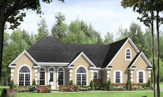 Split Bedroom Ranch House Plans Homes
