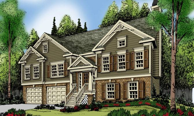 Split Foyer Home Plans Level Designs