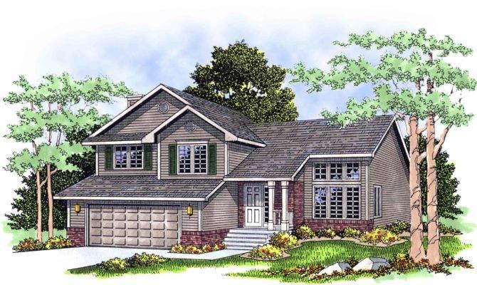 Split Level Home Plan Architectural Designs