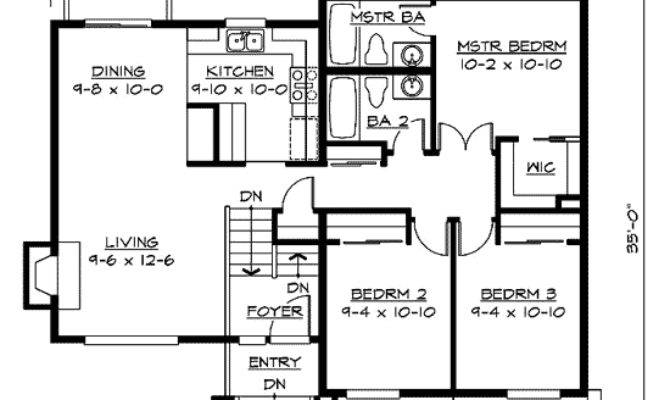 Split Level Home Plan Floor Master Suite