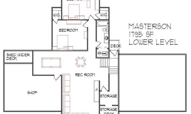 Split Level House Floor Plans Designs Bedroom