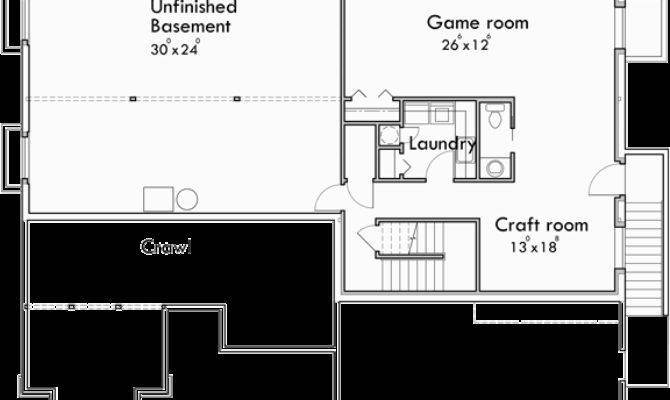 Sprawling Ranch House Plans Basement