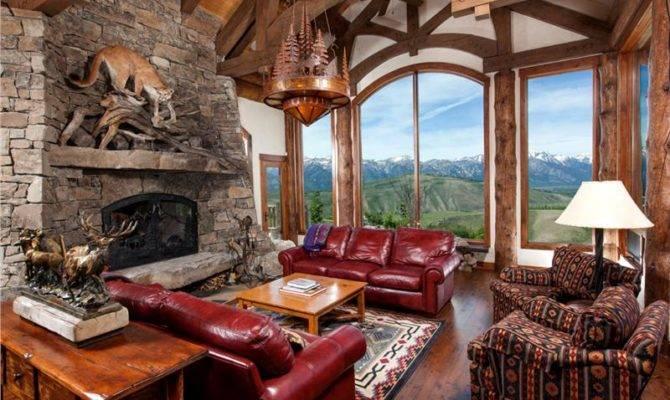 Spring Creek Ranch Home Mansion Living Room