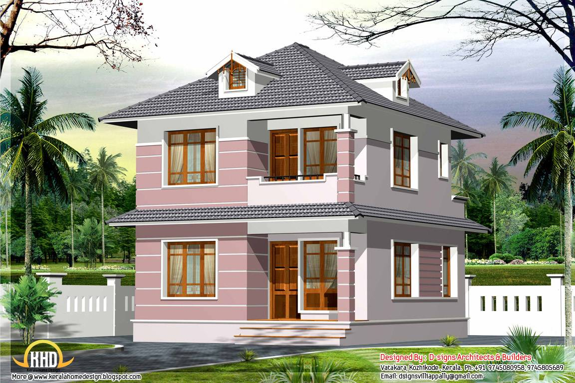 Square Feet Bedroom Small House Elevation