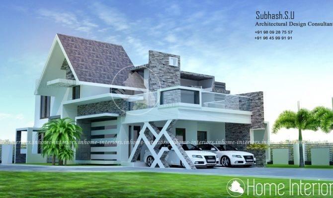 Square Feet Bhk Double Floor Contemporary Home Design