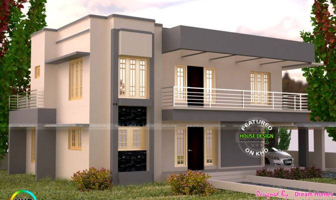 Square Feet Flat Roof House Plan Kerala Home Design