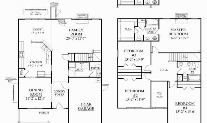Square Feet House Plans Best Two Story