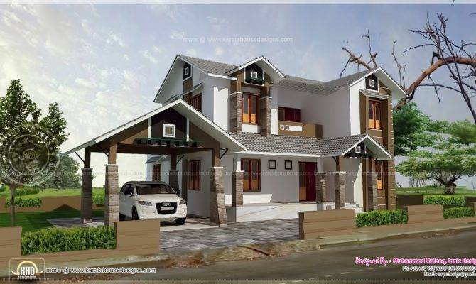 Square Feet House Separate Garage Home Kerala