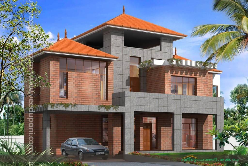 Square Feet Kerala Home Design Bath Attached Bedrooms