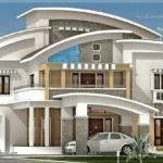 Square Feet Luxury Villa Exterior House Design Plans