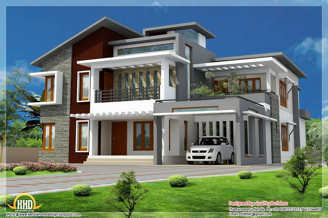 Square Feet Modern Contemporary Mix Home Design