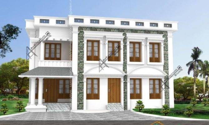 Square Feet Modern House Bath Attached Bedooms Kerala