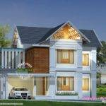Square Feet Sloped Roof Plan Kerala Home Design