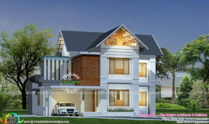 Square Feet Sloped Roof Plan Kerala Home Design
