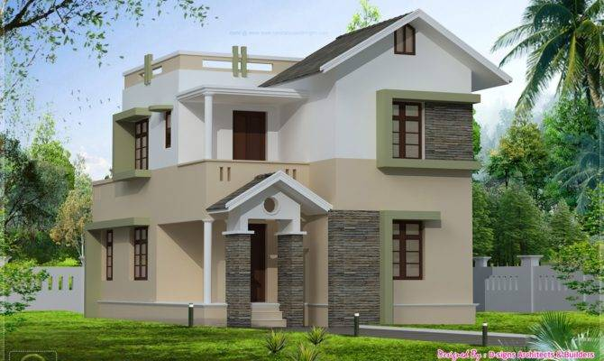 Square Feet Small Villa Elevation Kerala Home